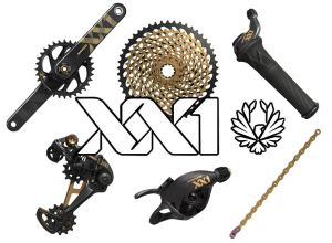 sada SRAM xx1 EAGLE gold 1x12 DUB BOOST